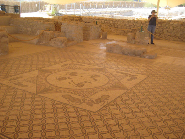 1600 year old synagogue at Ein Gedi