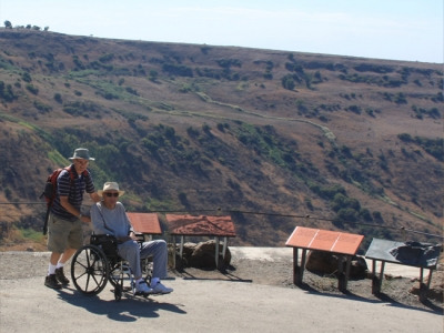 The Gamla National Park observation deck is accessable to all