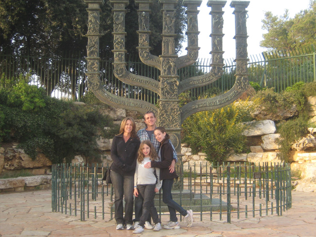 A Kodak moment at the State Symbol, near the Knesset