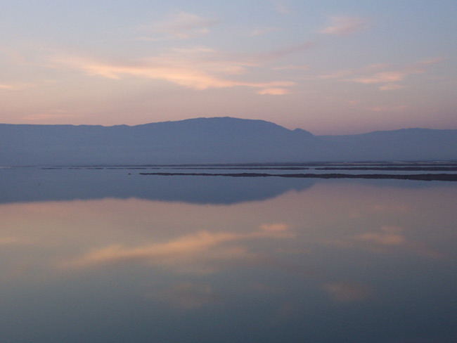 A moment of reflection on the Dead Sea