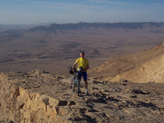 Come join me for a ride in the Negev at Mahktesh Ramon