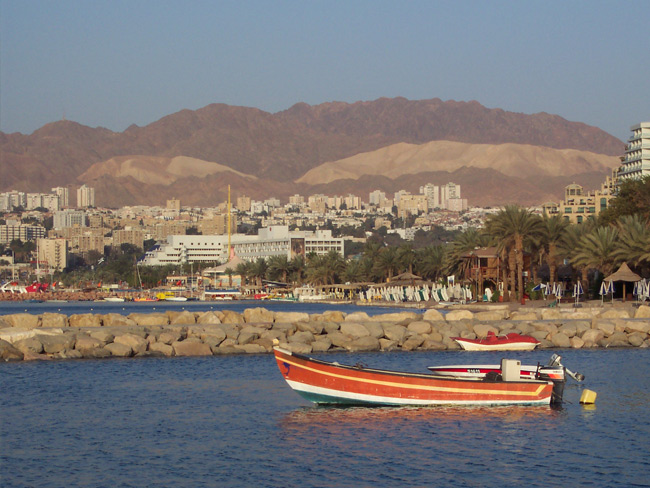 Eilat - city between the granite mountains and the sea