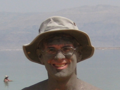 From personal experience, it washes off easily. Dead Sea mudbath