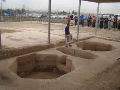 Ancient wine press factory 'Gat Gideon' at Kibbutz Chafetz Chaim