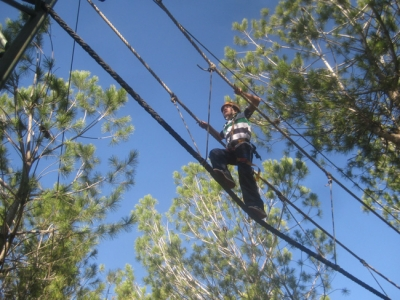 On the ropes at DeerLand Park, Gush Etzion