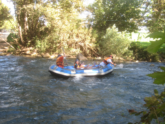 Rafting on the Hazbani River