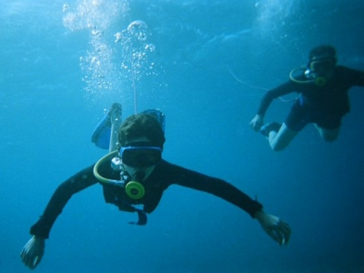 Snuba diving in Eilat