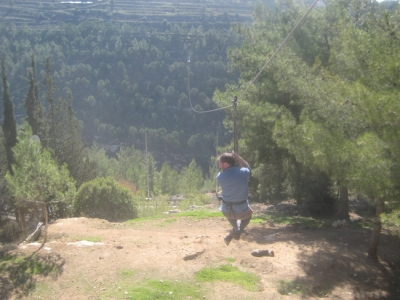 Second longest zip line in the world in Gush Etzion