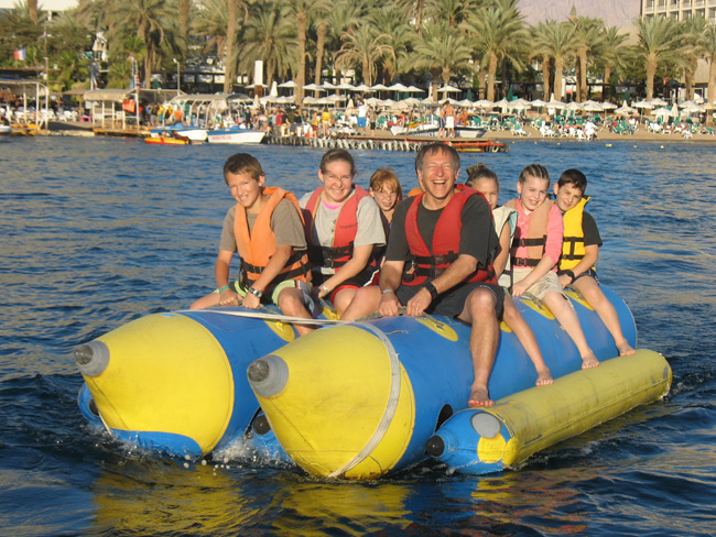 Sure looks fun. Banana boating in Eilat