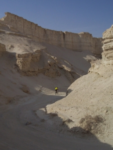 Riding through Nachal Sdom