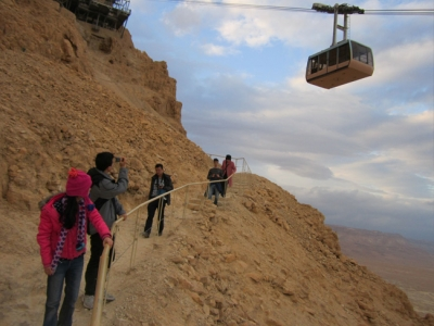 Your choice. Down in 3 minutes or 30. The Snake Path at Masada