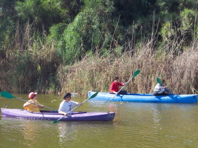 Canoeing near Nitzanim beach