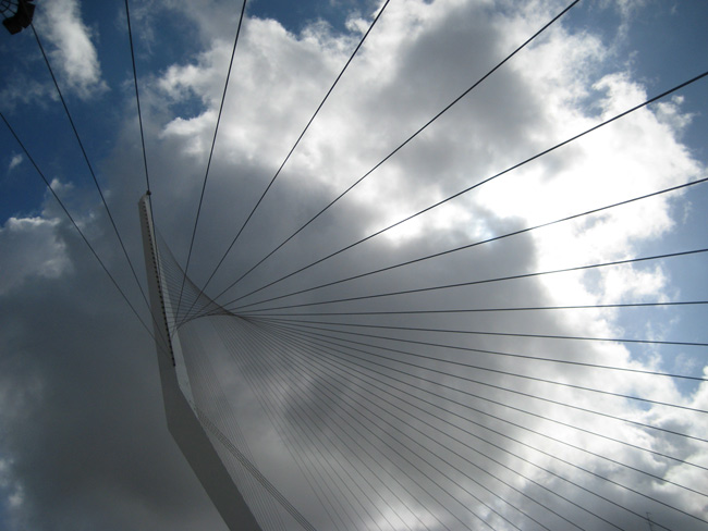 The Santiago Calatrava Bridge of Strings