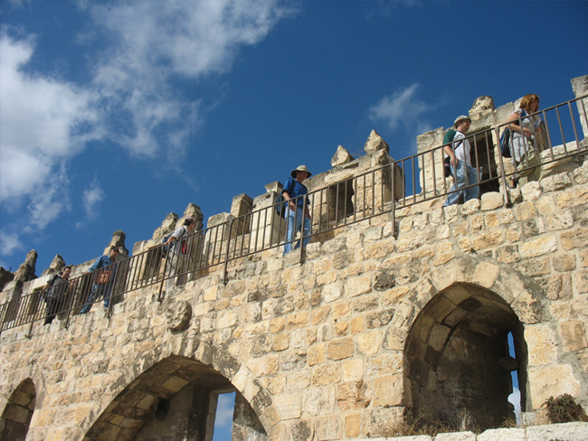 Walking over Damascus Gate